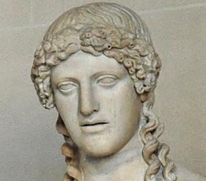 Apollo di Fidia. Particolare. Museo del Louvre, Parigi.