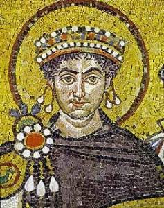 Giustiniano. Basilica di San Vitale, Ravenna. Particolare.