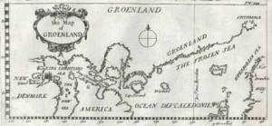 Mappa della Groenlandia del XVII secolo