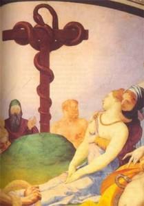 Il miracolo del serpente di Bronzo. Affresco del Bronzino, XVI sec.